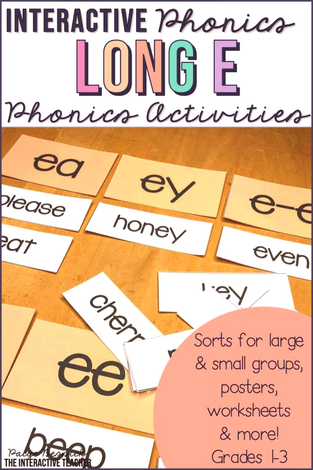Long e Word Work Activities - Sorts, Worksheets amp Poems Long vowel e worksheets, sorts and activit