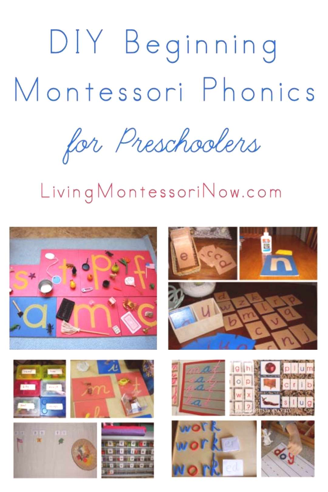 LOTS AND LOTS of resources for teaching Montessori phonics for preschoolers and kindergartners at h