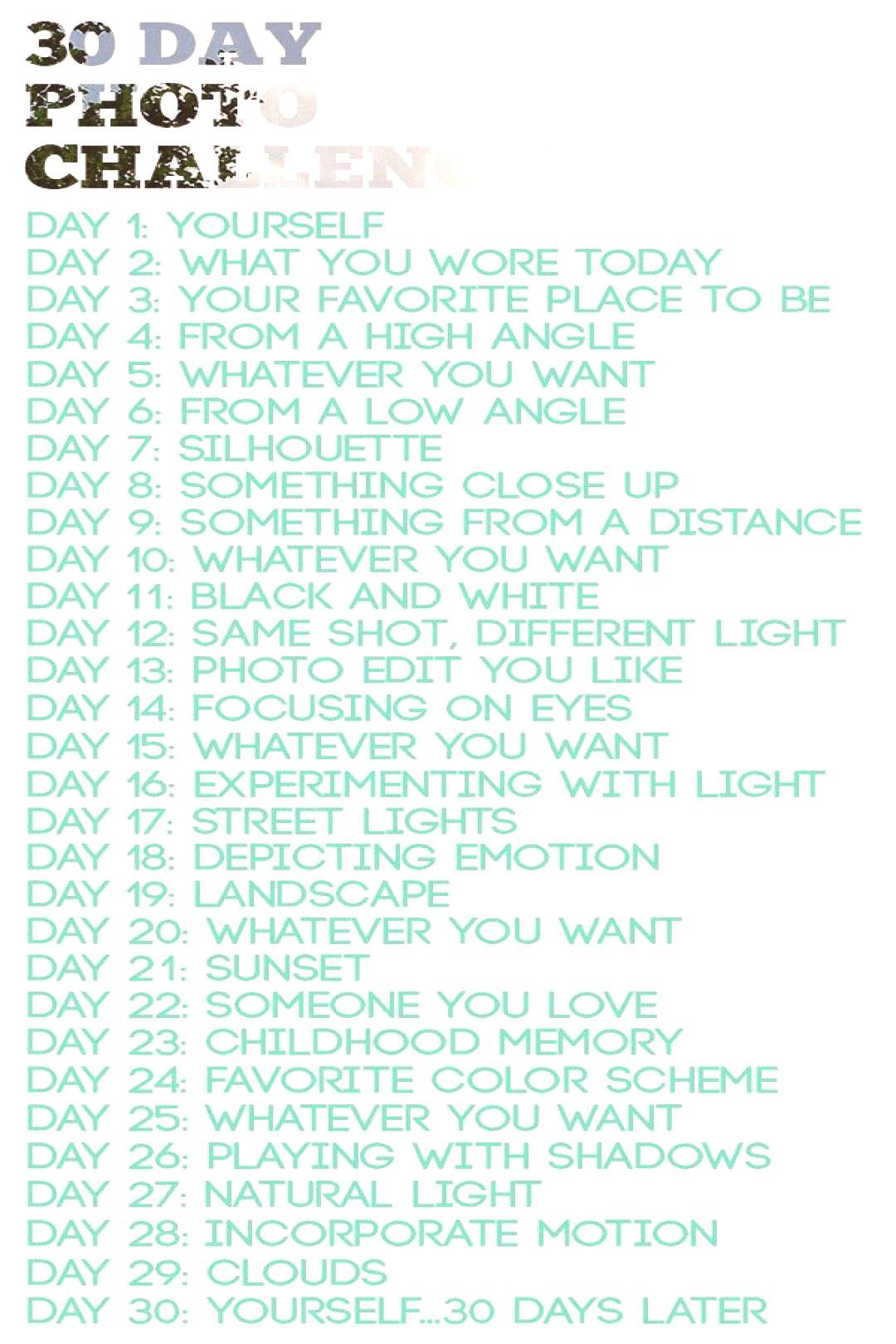 Love the idea, if not ffor a public contest, its still a great list to do on your own, or with a c