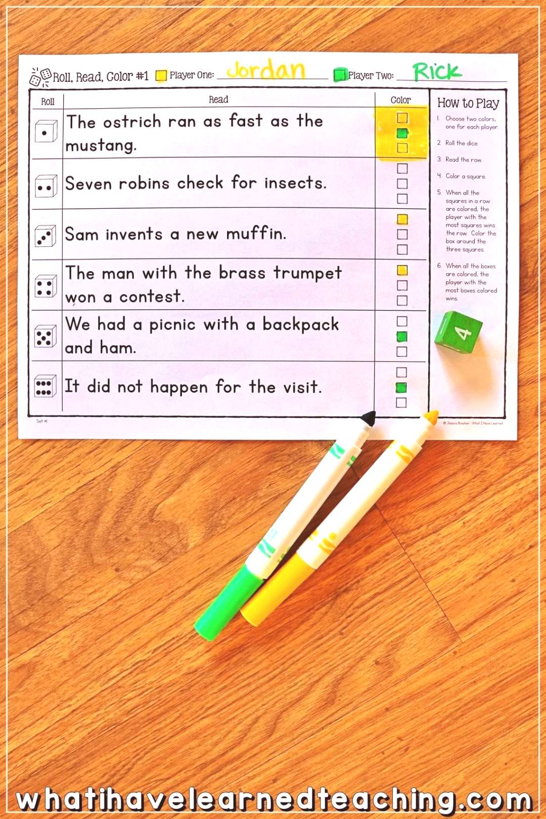 Partner Phonics Games for Decoding Two-Syllable Words • What I Have Learned Fun and engaging phon