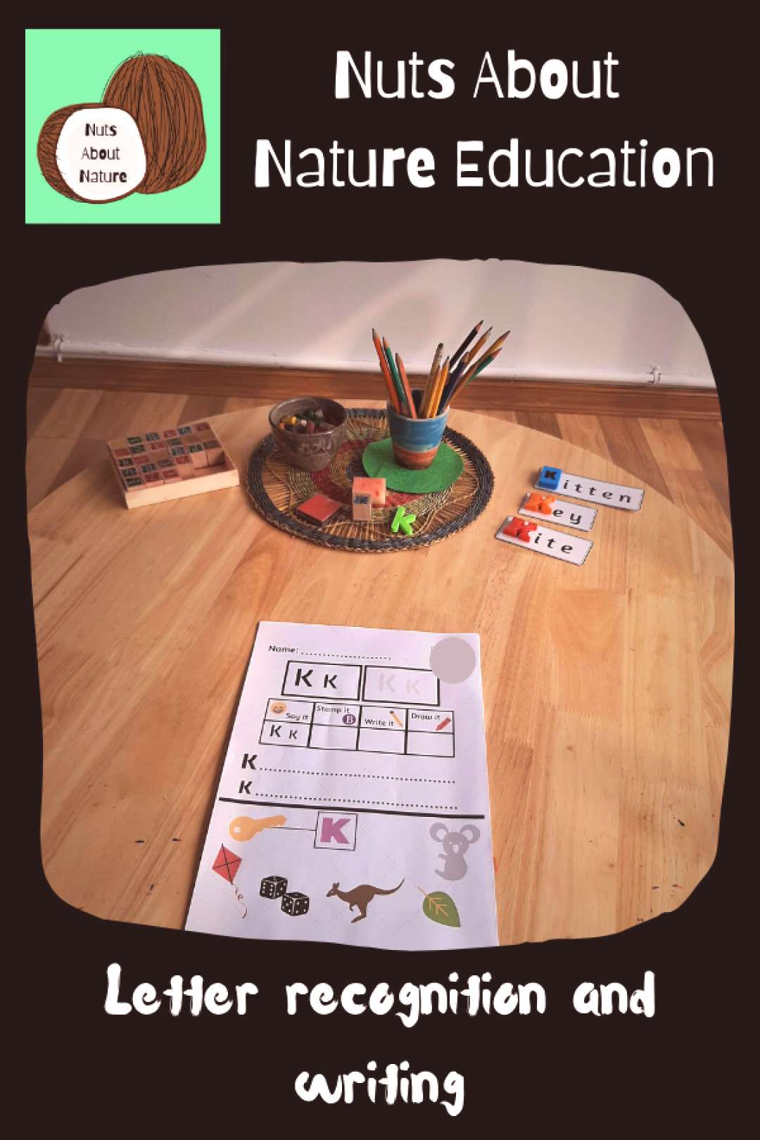 Phonics Activity Each week we learn a new letter from the alphabet. This is our Literacy table whe