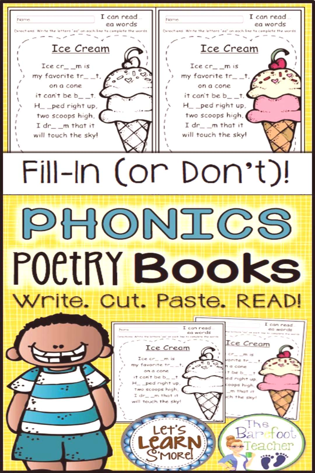 Phonics Poetry Book Pages all Original Phonics Poems This Poetry Book for Phonics is one of my best