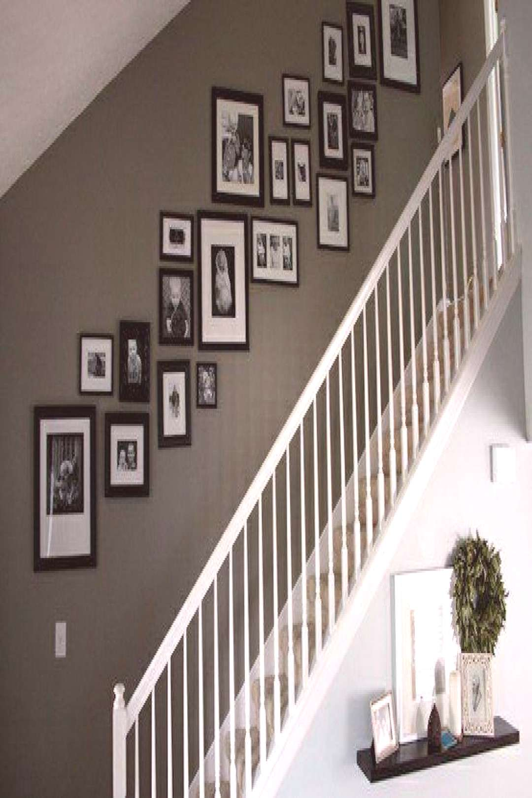 Photo framing tips stairs wall decoration ideas