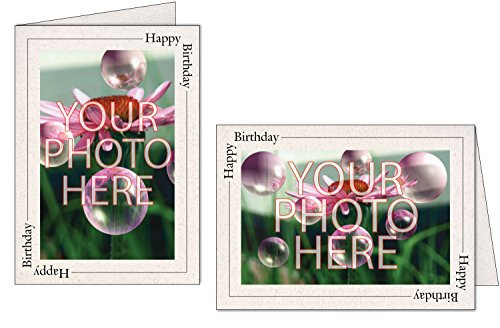 Photographers Edge, Photo Insert Card, Natural with Happy