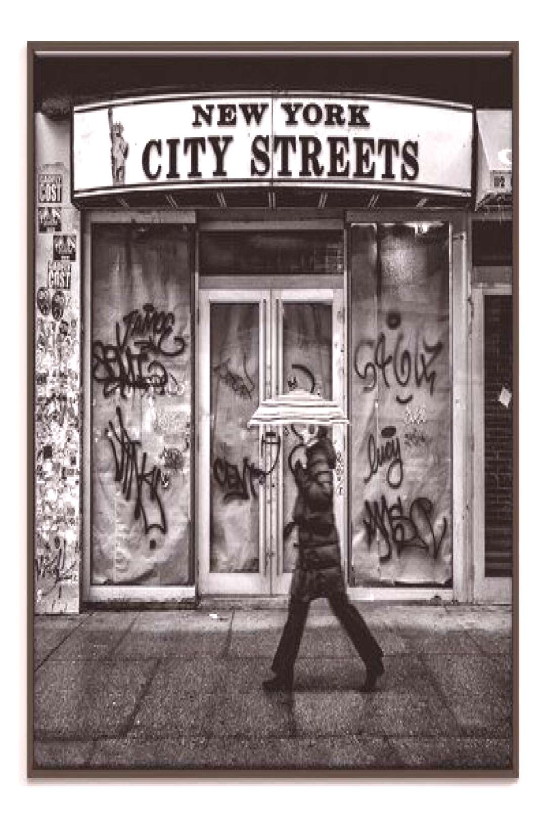 Photographers Lane NY City Streets Photographic Print Format Black Floater Framed Canvas, Size