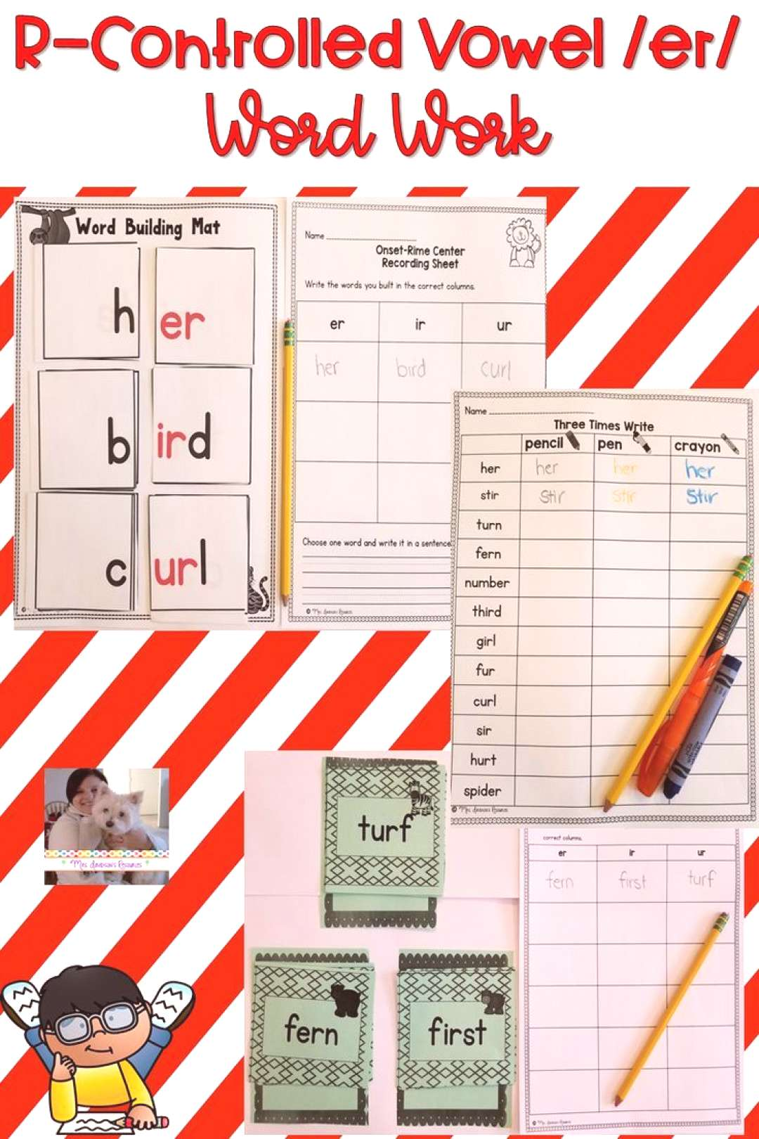 R Controlled Vowel er Word Work These hands-on and engaging r-controlled vowel /er/ word work activ