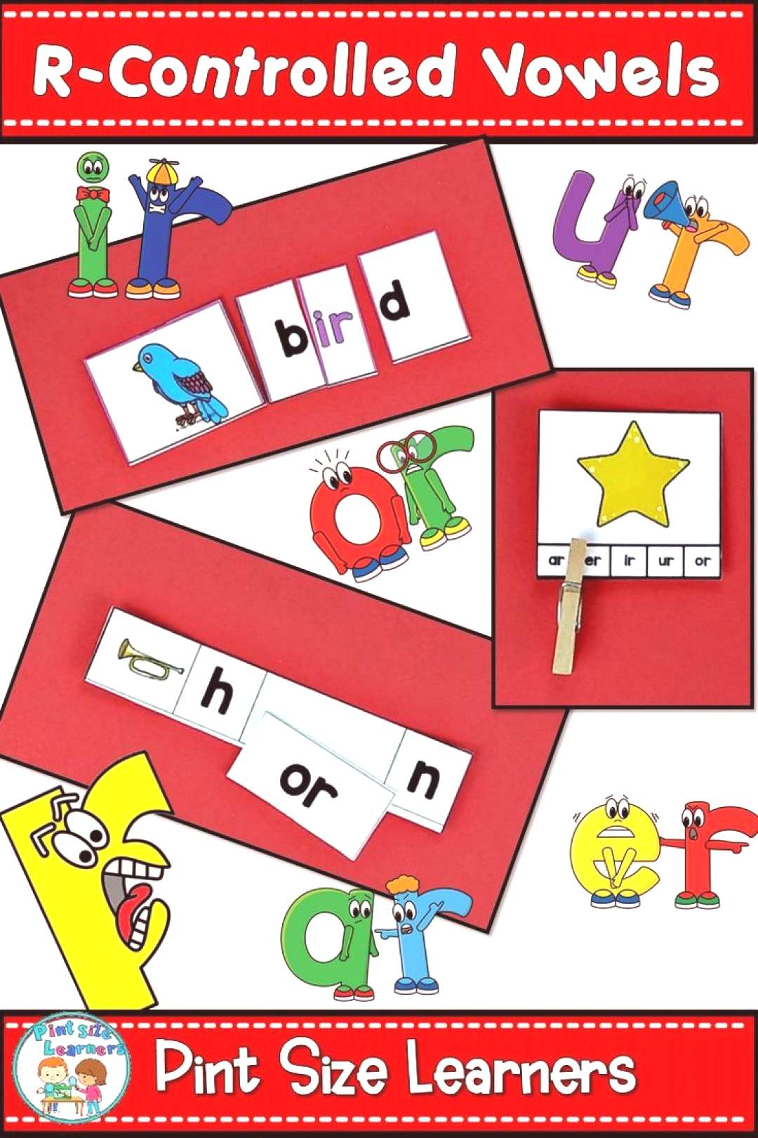 R Controlled Vowels Activities amp Worksheets   R Controlled Centers too! Do your first grade and ki