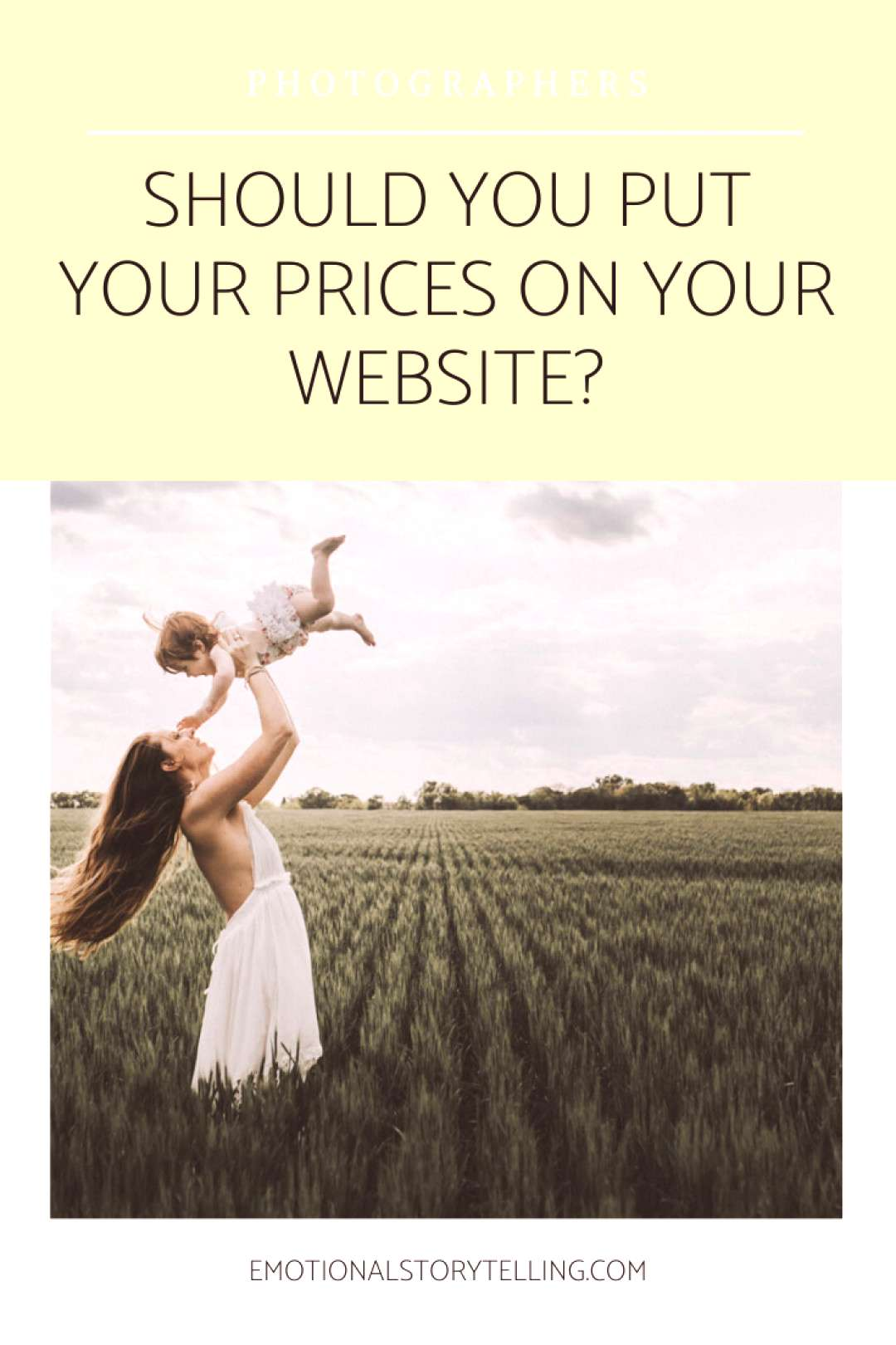 Should you put your prices on your Website?