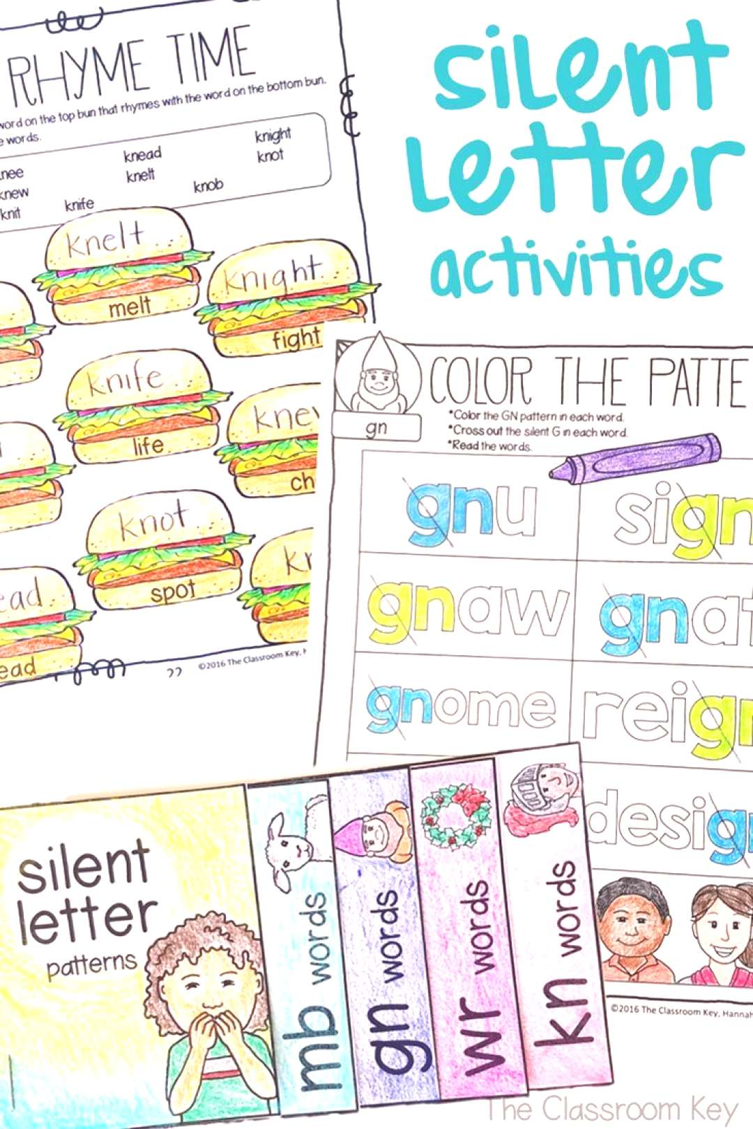 Silent Letter Activities amp Worksheets, kn, wr, mb, gn, 2nd Grade Phonics Silent Letter Activities (