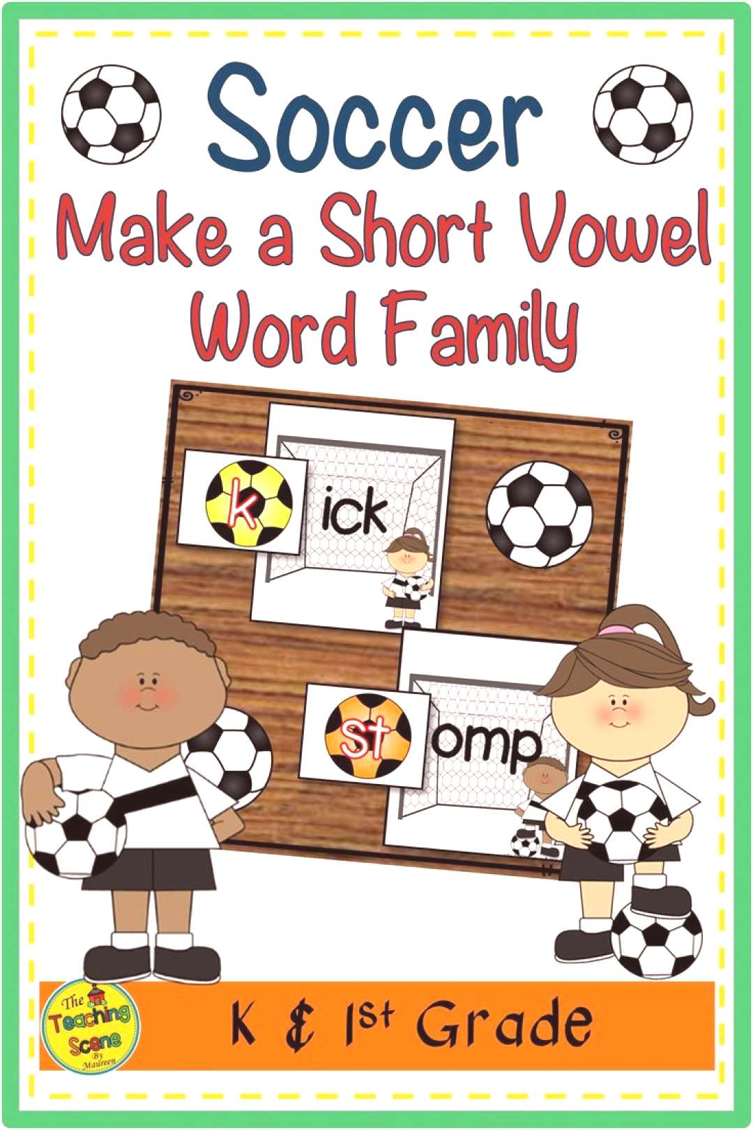 Soccer Themed Make a Short Vowel Word Family Do you need a soccer phonics center or activity? This
