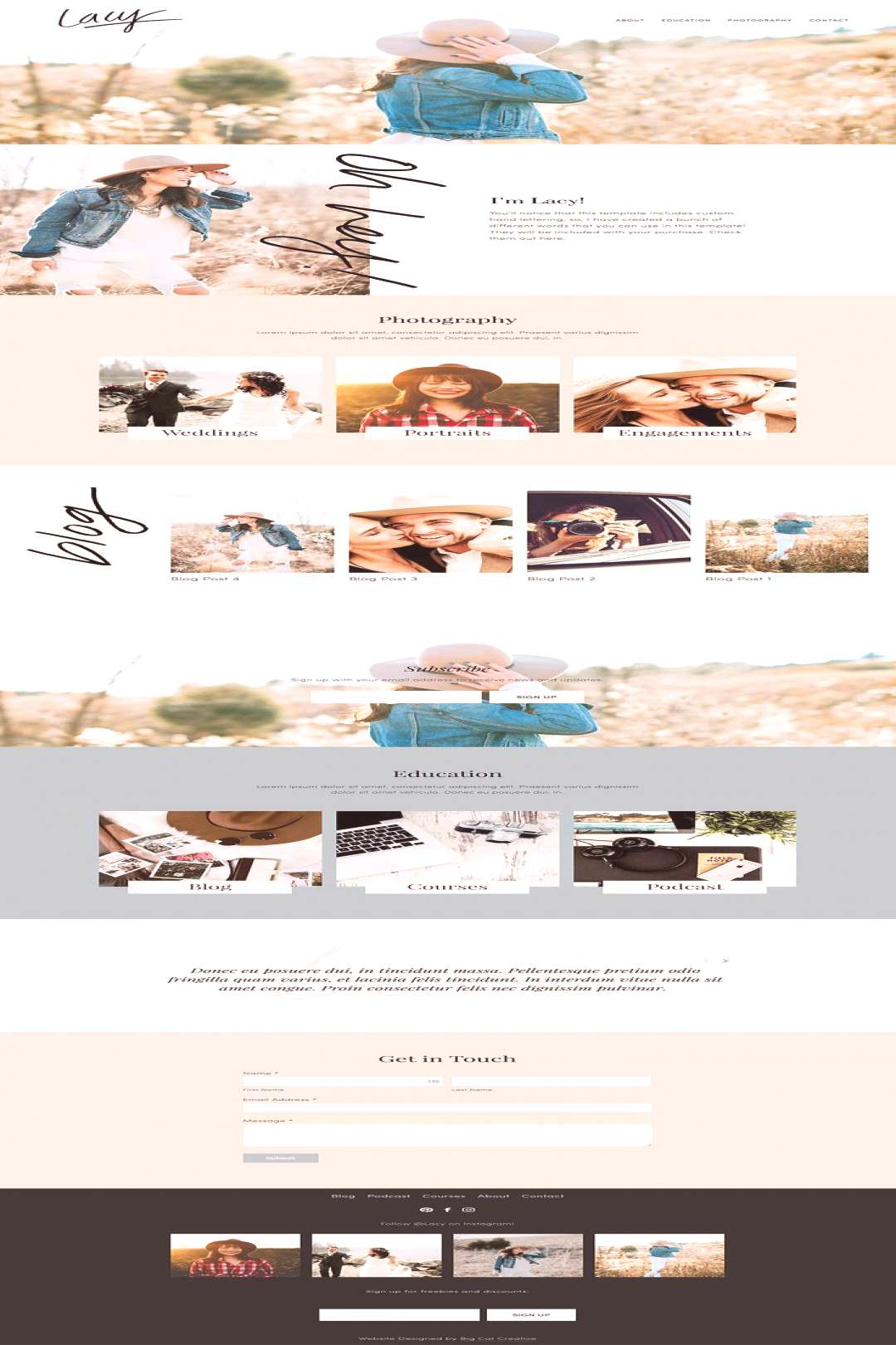Squarespace Template Lacy The Lacy Squarespace Template Kit is a feminine and modern design, with