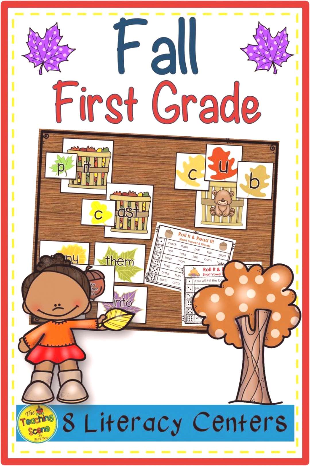 The Teaching Scene by Maureen (mmonroe59) on Pinterest Do you need some Fall-themed literacy center