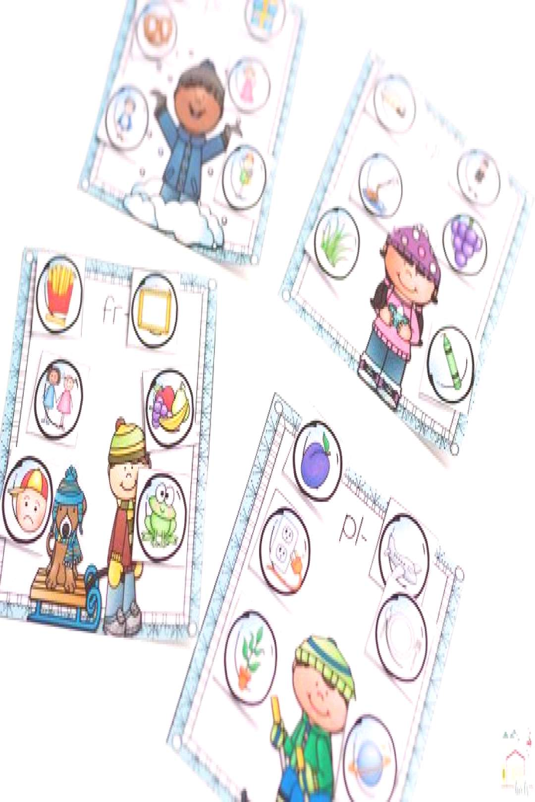 These free word work printable blends sorting mats are simply adorable! I love how the kids can mat