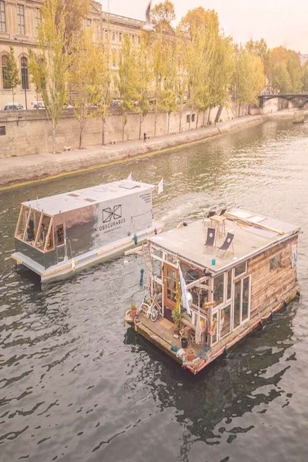 Two Artists Set Sail in a Pair of Floating Art and Photography Studios