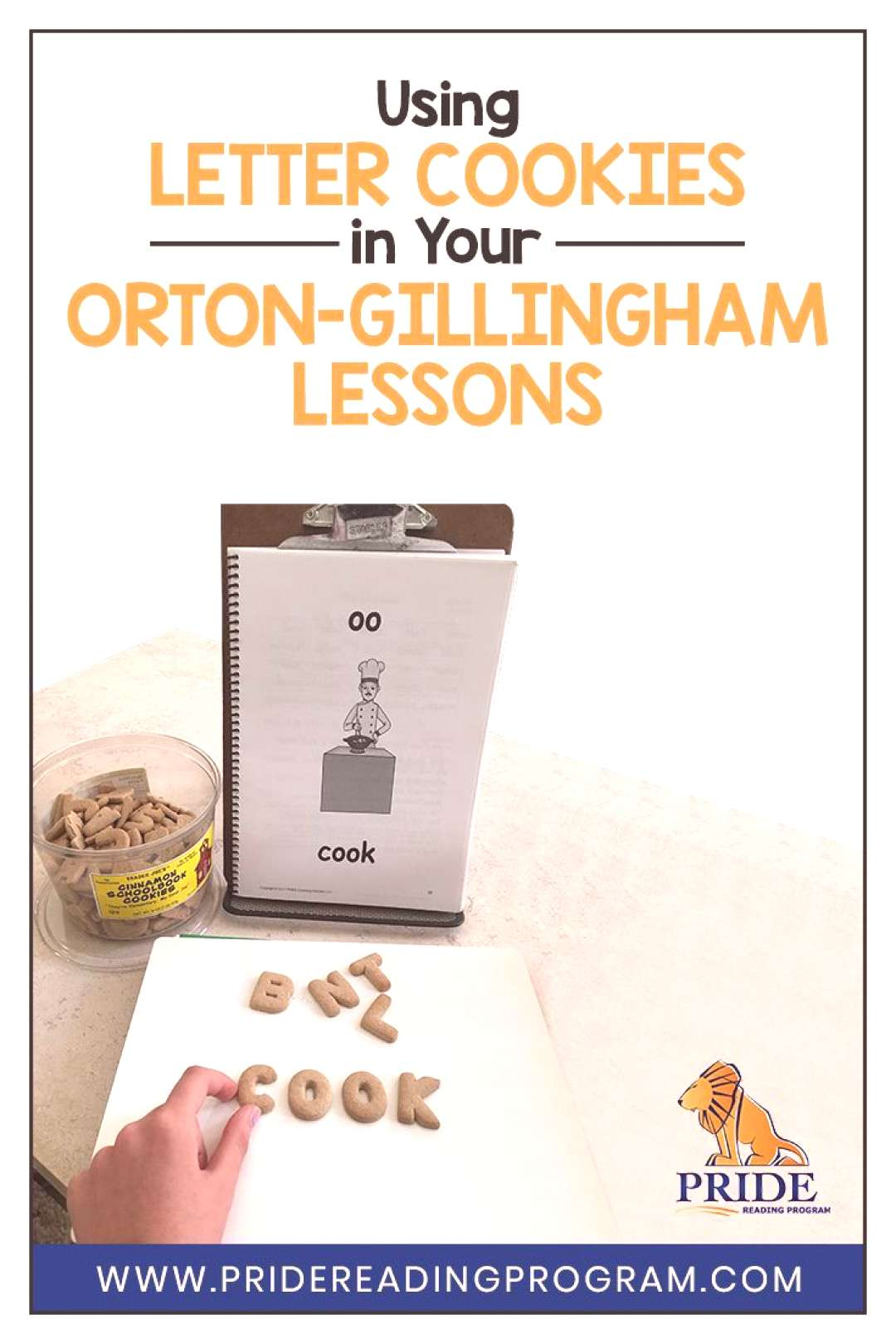 Using Letter Cookies in your Orton-Gillingham Lessons Spice up your Orton-Gillingham lessons with t