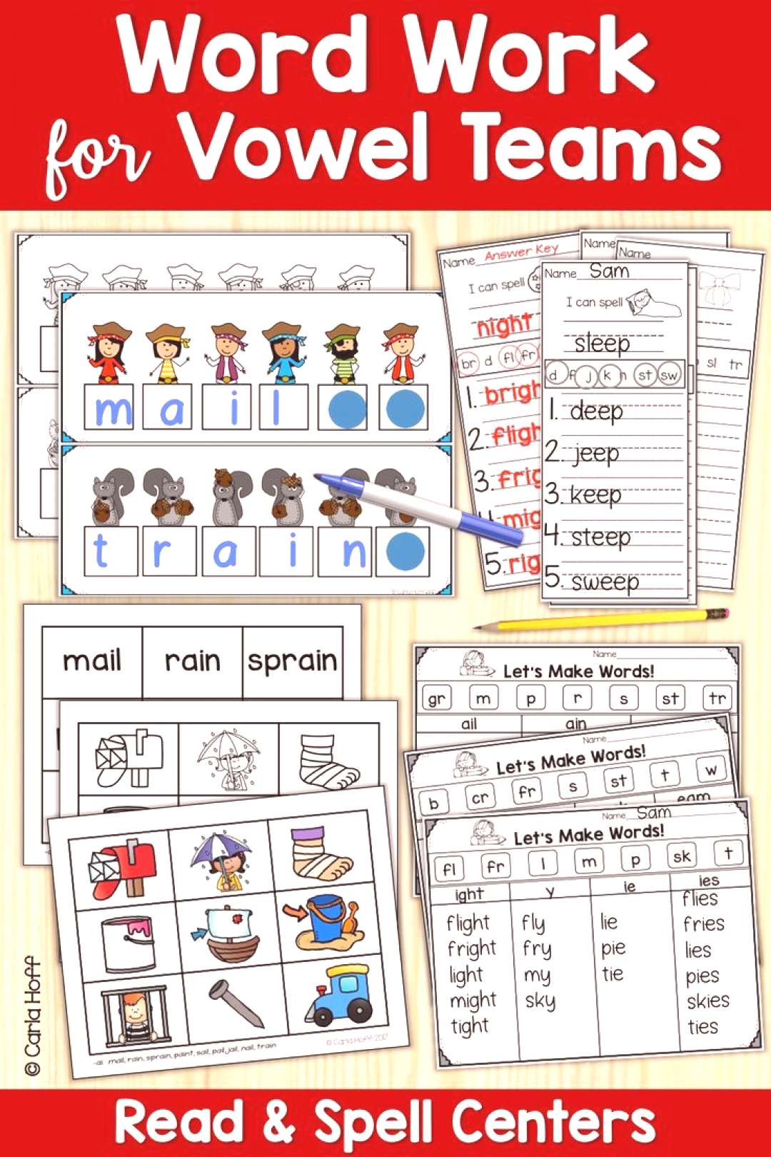VOWEL TEAMS Activities and Worksheets Give your first grade or second grade students plenty of enga