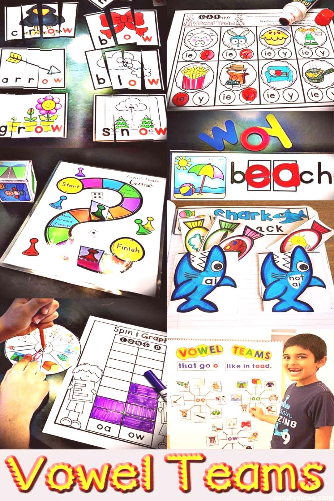 Vowel Teams This bundle is full of long vowel teams activities! It includes anchor charts, puzzles,