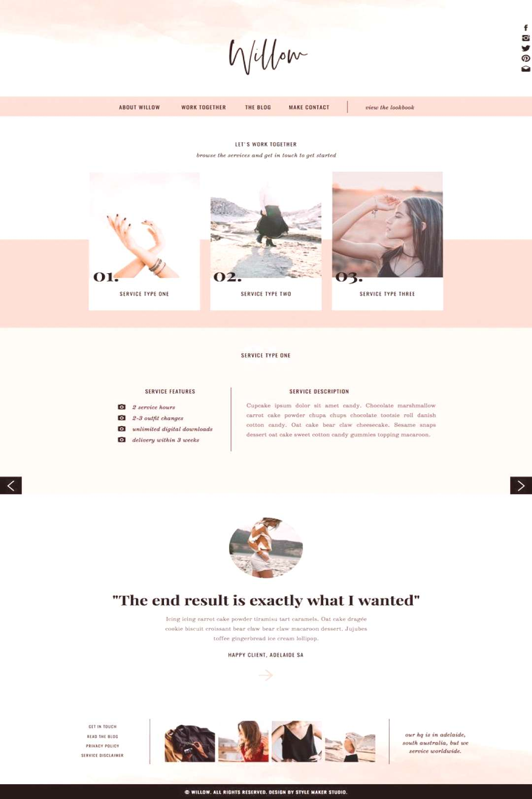 Willow   Showit Template, Showit Website, Fashion Photographers - Willow   Showit Template, Showit