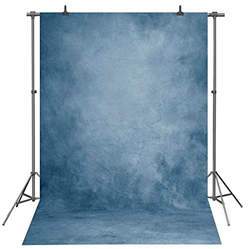 WOEIEOW 5x7ft Gradual Blue Photography Backdrop, Abstract