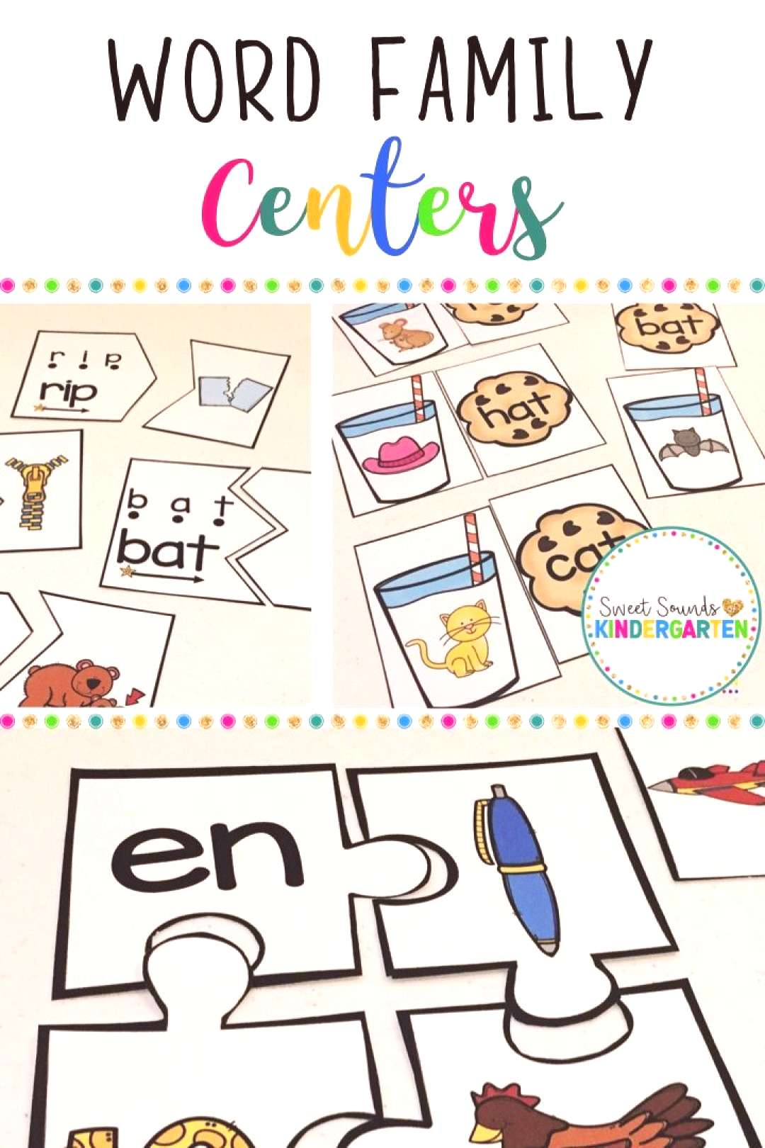 Word Family Centers CVC Words and Word Family Practice Phonics amp word family centers! This includ