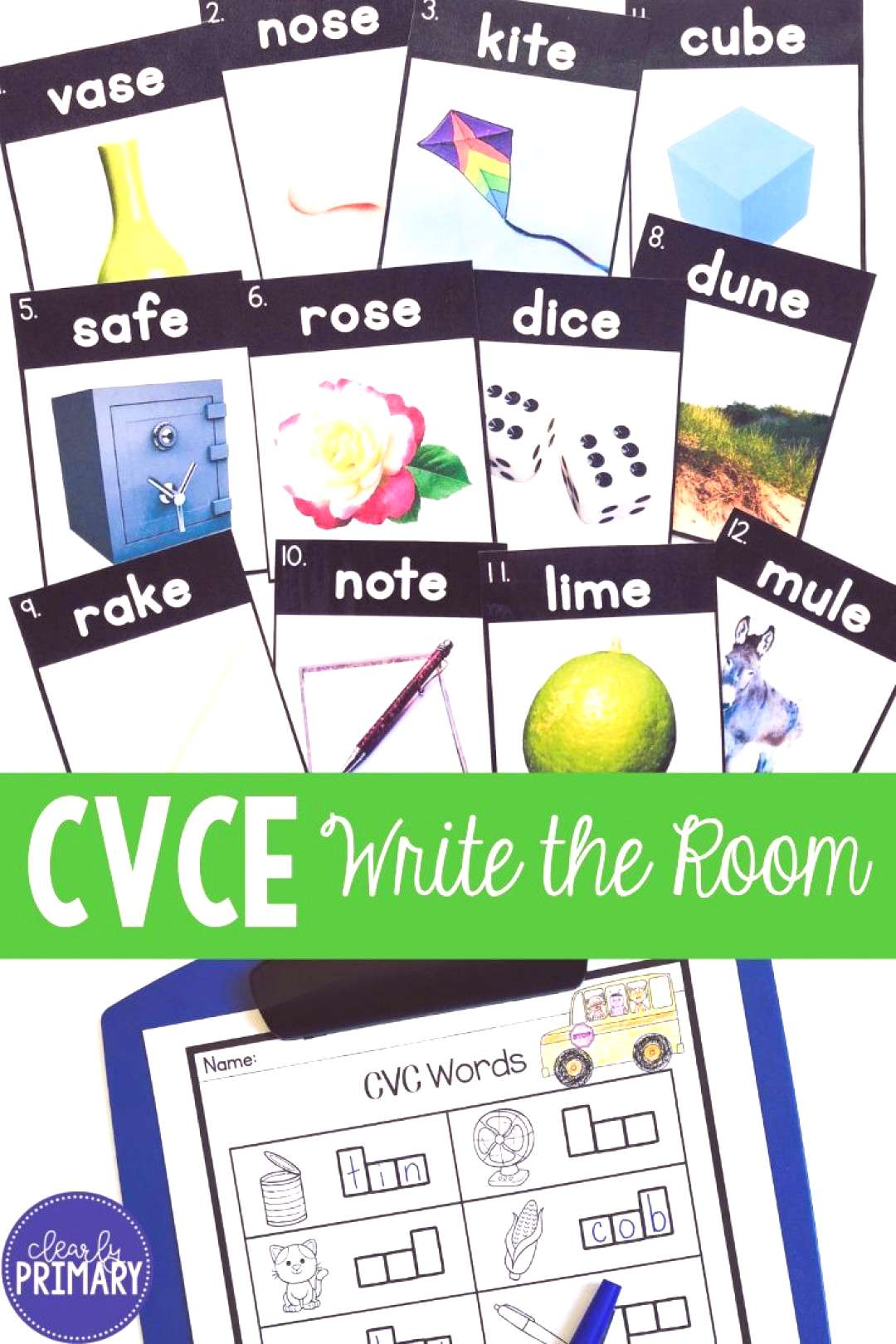 Write the Room CVCE Words This Write the Room activity is a fun and engaging way for your kinderga