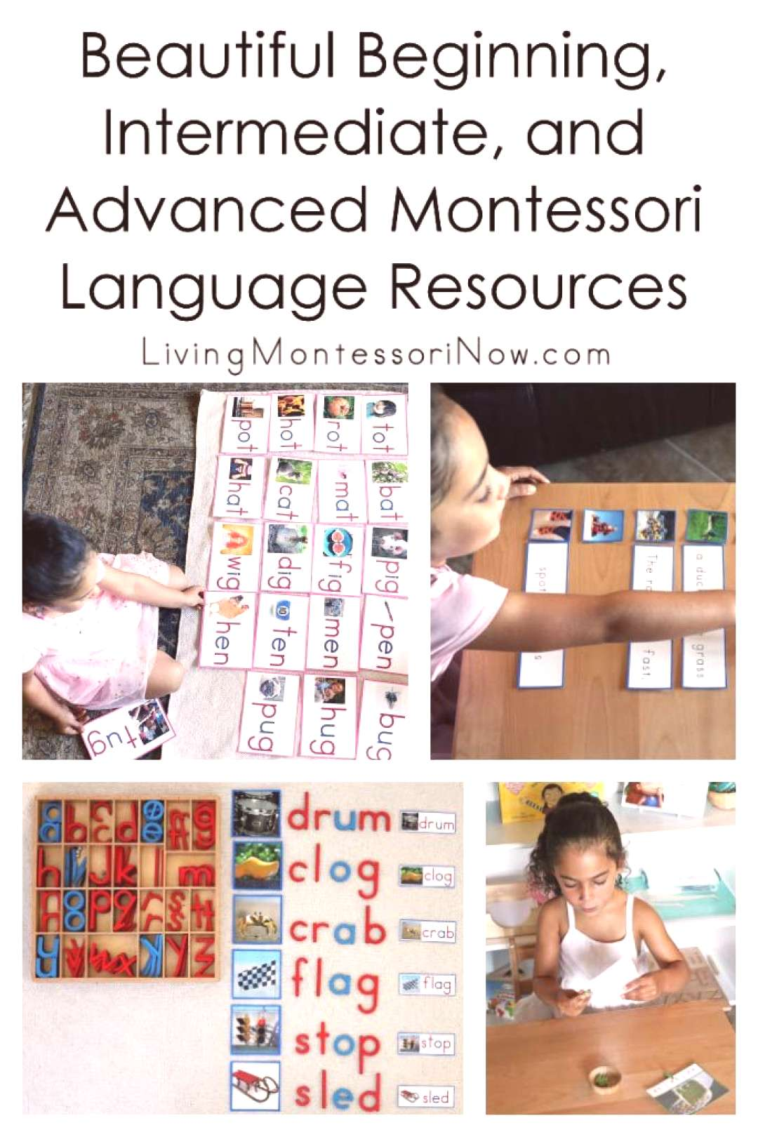 Youll find Montessori language resources here for beginning, intermediate, and advanced language,